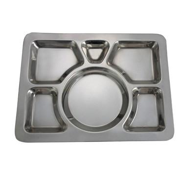 Winco SMT-1 6 Compartment Mess Tray, A