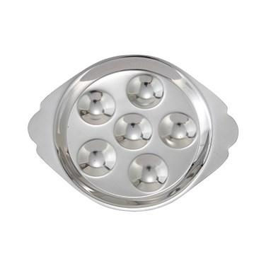 Winco SND-6 Snail Dish, Stainless Steel