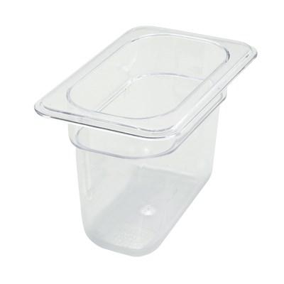 Winco SP7906 Polycarbonate Food Pan, 1/9 Size, 6""