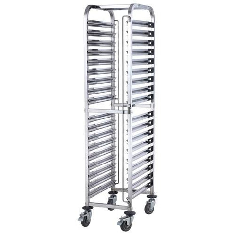 Winco SRK-36 Steam Table/Food Pan Rack, Mobile, Stainless Steel