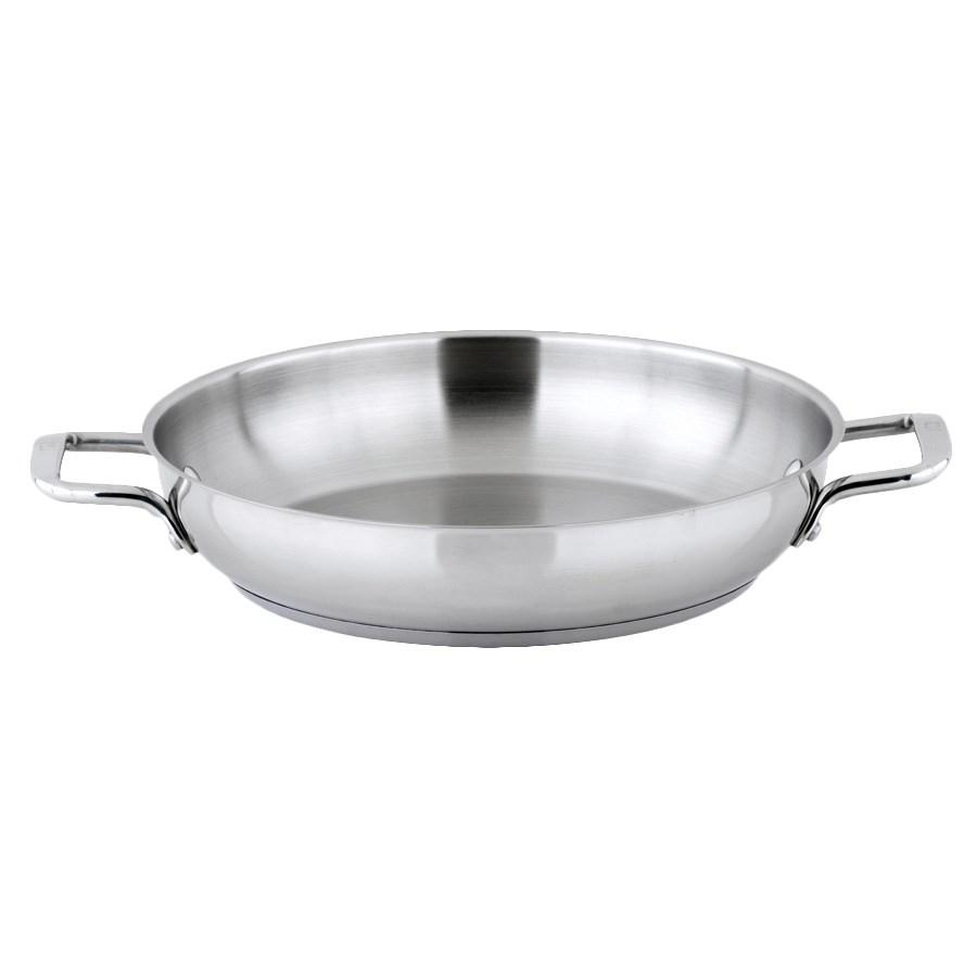 Winco SSOP-12 Stainless Steel Omelet Pan 12-1/2""