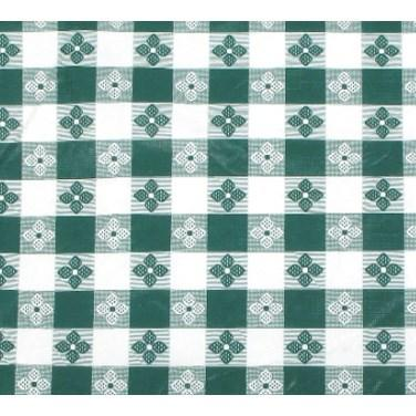 "Winco TBCO-70G Table Cloth, 52""L X 70""W, Rectangular, Green Checkerboard"