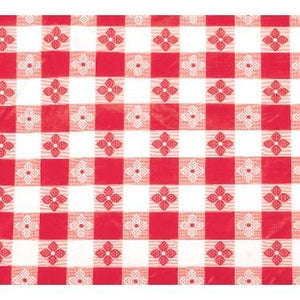 "Winco TBCO-70R Table Cloth, 52""L X 70""W, Rectangular, Red Checkerboard"