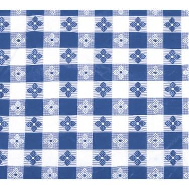 "Winco TBCO-90B Table Cloth, 52""L X 90""W, Rectangular, Blue Checkerboard"