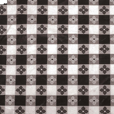 "Winco TBCS-52K Table Cloth, 52""L X 52""W, Square, Black Checkerboard"