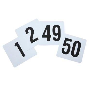 Winco TBN-50 Plastic Table Numbers, 1-50