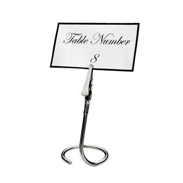 "Winco TCD-3C Table Sign Clip With ""C"" Swirl Base"