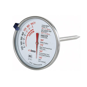 Winco TMT-MT3 Meat Thermometer, Temperature Range 130° To 190° F