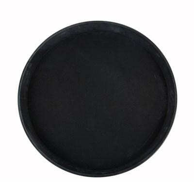 "Winco TRH-16K Easy-Hold Rubber-Lined Tray, Round, Black, 16"" Dia"