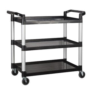 Winco UC-3019K Utility Cart, 3 Tiers, Black