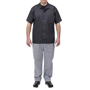 Winco UNF-4KL Relaxed Fit Chef Pants (Large Houndstooth Poly-Cotton Blend)