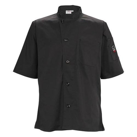 Winco UNF-9KM Universal Ventilated Shirt, Universal Fit, Black, Medium