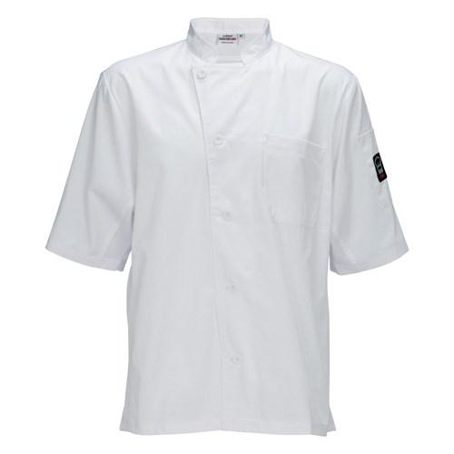 Winco UNF-9WXXL Universal Ventilated Shirt, Universal Fit, 65/35 Poly-Cotton Blend, White, XXL