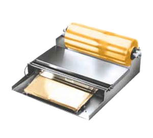 "Winholt WHSS-1 Film Wrapping Dispenser, counter type, aluminum & stainless steel construction, holds one film roll with 3"" dia. core, 115v/750with 8 amps, NSF"