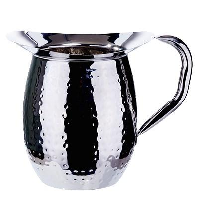 Winco WPB-2H Hammered Bell Pitcher, Stainless Steel, 2 Qt