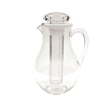 Winco WPIT-19 64 Oz Water Pitcher With Ice Tube Core