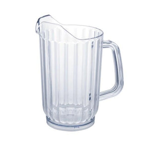 Winco WPS-32 SAN Plastic Water Pitcher, Clear, 32 Oz