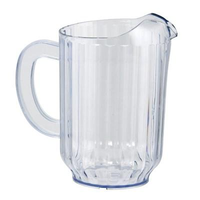 Winco WPS-60 SAN Plastic Water Pitcher, Clear, 60 Oz
