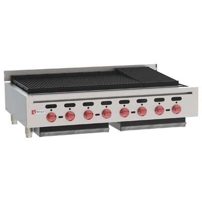 "Wolf ACB47 ACB Series 47"" Gas Countertop Achiever Charbroiler with Cast Iron"