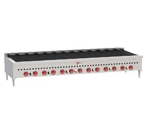 "Wolf SCB72 72"" Gas Charbroiler with 13 Burners Cast Iron Grates"