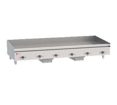 "Wolf WEG72E 72"" Electric Stainless Steel Countertop Griddle with Snap Action Thermostatic Controls"