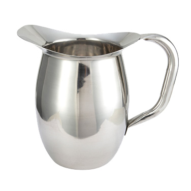 Winco WPB-2 Bell Pitcher, 2 quart, heavy weight stainless steel, mirror finish