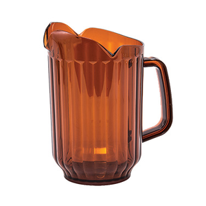 Winco WPCT-60A Water Pitcher, 60 oz., 3-spout, polycarbonate, amber