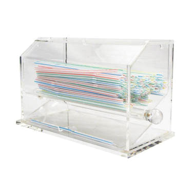 Winco ACSD-712 Acrylic Straw Dispenser, BPA free