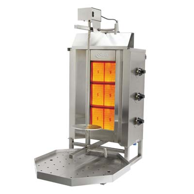 Axis AX-VB3 Vertical Broiler, Natural Gas, 88 lbs. Capacity, 34,140 BTU, 120v/60/1-ph