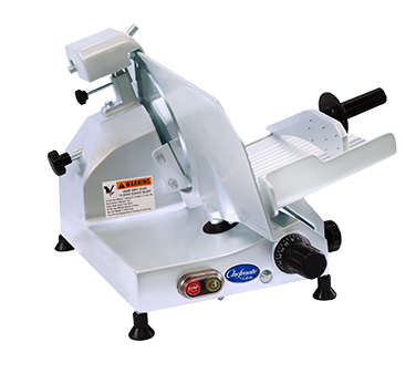 "Globe C10 Food Slicer, manual, 10"" diameter knife"