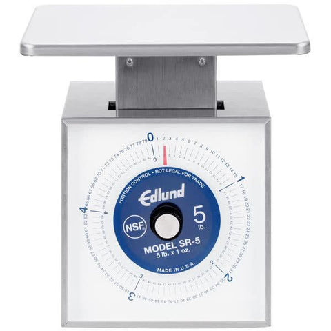 Edlund SR-5 Scale, Portion, Dial Type, dishwasher safe, top loading counter model, NSF certified, made in USA