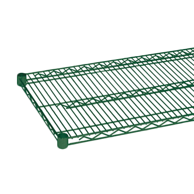 "Thunder Group CMEP1448 Wire Shelving, 14"" x 48"", heavy duty, epoxy coated, green, NSF"