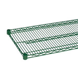 "Thunder Group CMEP1472 Wire Shelving, 14"" x 72"", heavy duty, epoxy coated, green, NSF"