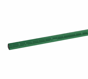 "Thunder Group CMEC034 33"" Green Epoxy Coated Shelving Post w/ Leveling Foot"