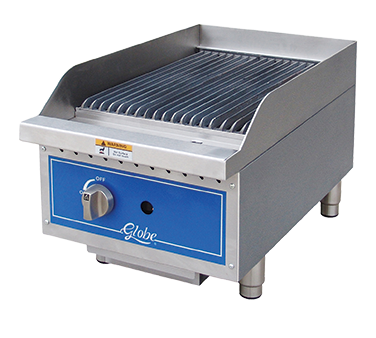"Globe GCB15G-CR Gas Charbroiler, radiant, countertop, 15"" wide, 40,000 BTU"