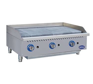 "Globe GCB36G-CR Gas Charbroiler, radiant, countertop, 36"" wide"