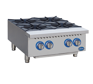 Globe GHP24G Hot Plate, gas, countertop, (4 Burner), 88,000 BTU