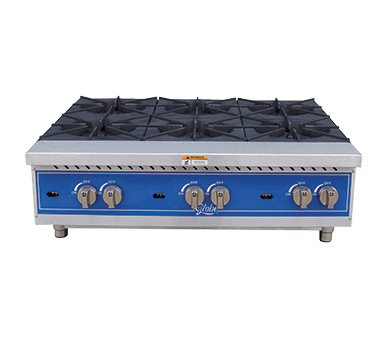 Globe GHP36G Hot Plate, gas, countertop, (6 Burners)