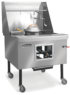 "Imperial ICRA-2 Wok Range, gas, 60"", (2) burners, water cooled top, built-in drain system, Chinese swing faucet, 220,000 BTU, NSF"