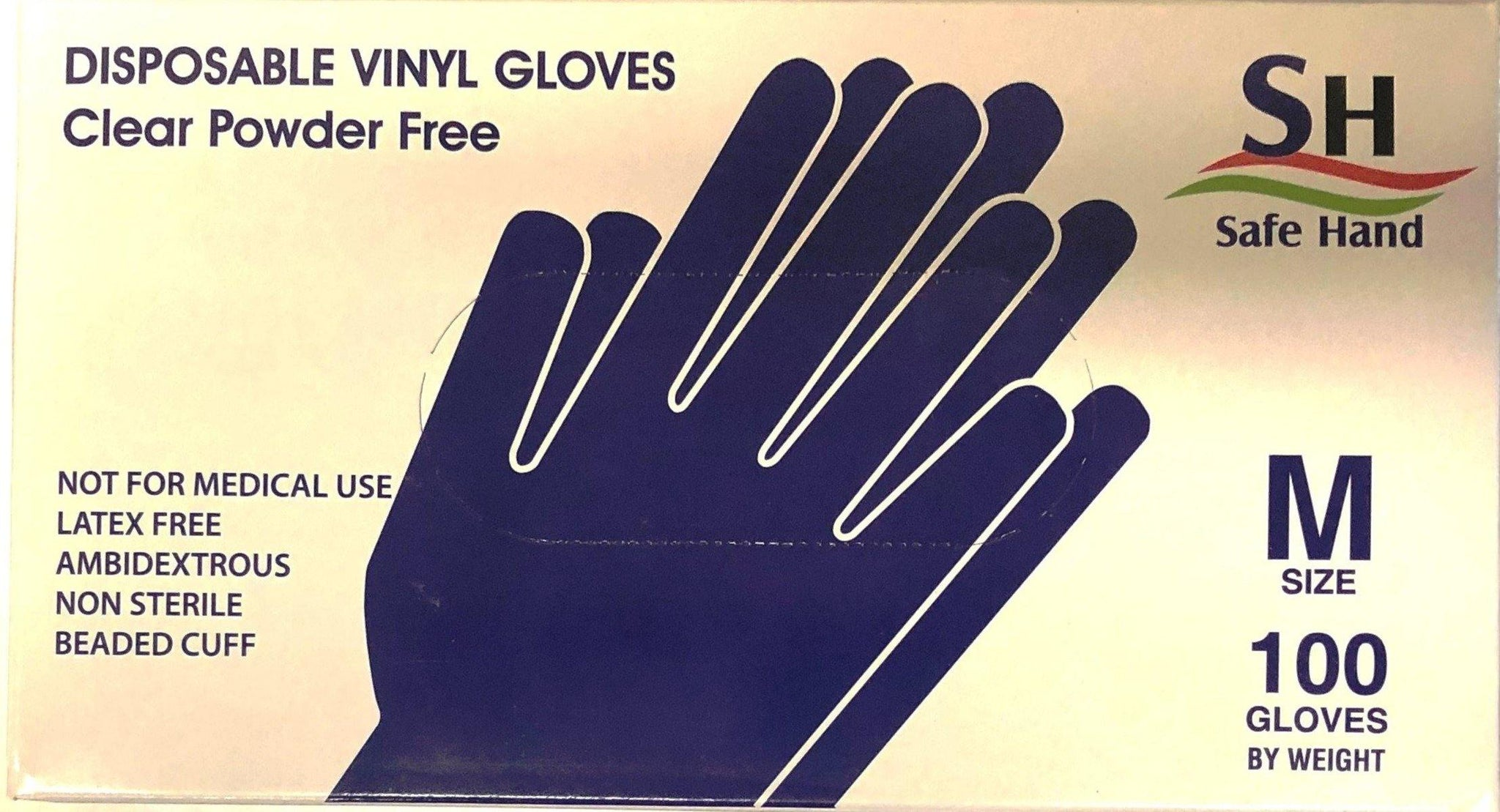 NEAL 4064 Vinyl Gloves, Medium (100/Box)