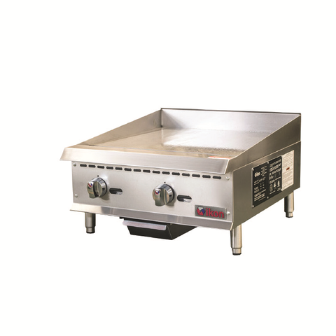 Ikon IMG-24 Griddle, Gas, Countertop, Adjustable Manual Control, 60,000 BTU Total