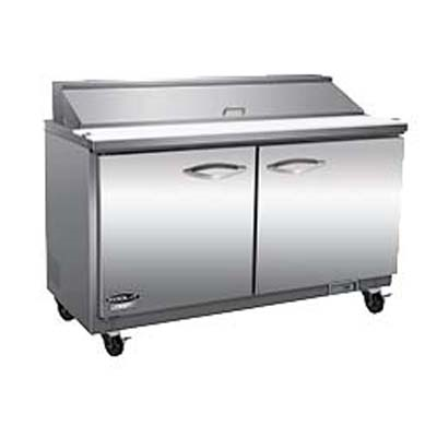 Ikon ISP48 Sandwich / Salad Prep Unit, two-section,12 cu. ft., 1/2 HP, 115v/60/1-ph