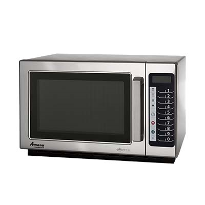 ACP RCS10TS Amana® Commercial Microwave Oven, 1000 watts, 1.2 cu. ft. capacity, medium volume, 120v/60/1-ph, 13.0 amps, cETLus, ETL-Sanitation