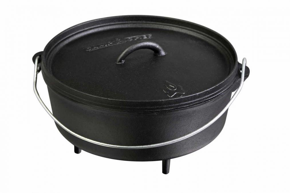 Camp Chef SDO12 Seasoned Cast Iron Dutch Oven 6 qt.