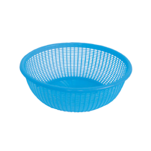 "Thunder Group PLWB001 Perforated Wash Blue Basket, 12-1/2"" Dia."