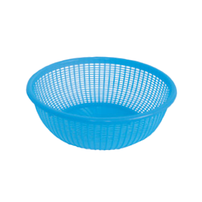 "Thunder Group PLWB003 Perforated Wash Blue Basket, 10"" Dia."