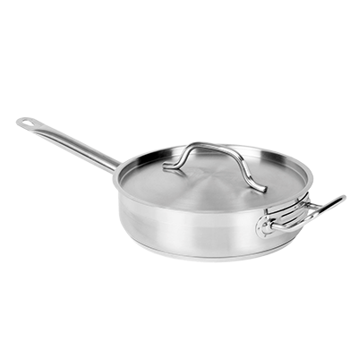 Thunder SLSAP030 Stainless Steel Saute Pan 3qt With Cover