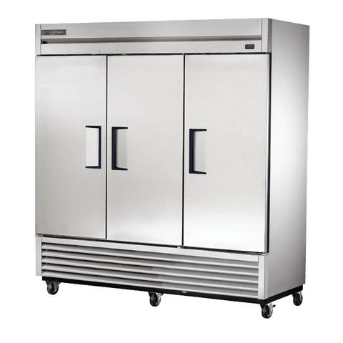 Three-Section Reach-In Refrigerator, with (3) Stainless Steel Doors