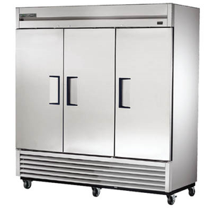 True T-72F-HC Three-Section Reach-in Freezer with (3) Stainless Steel Doors