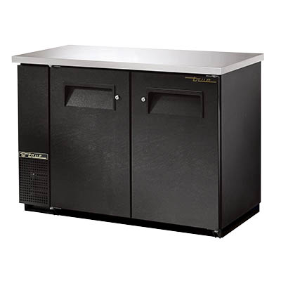 True TBB-24-48-HC Back Bar Cooler, Two-Section, (2) Half Keg Capacity, Black
